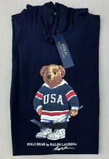 NEW Polo Ralph Lauren BLUE Men's POLO BEAR Hoodie Jacket! Size L! FAST SHIPPING!