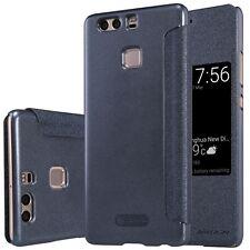 Premium Nillkin Smartcover Schwarz für Huawei P9 Tasche Hülle Case Etui Schutz