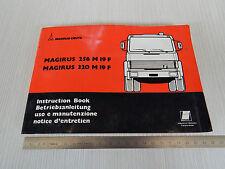 MANUALE USO MANUTENZIONE ORIGINALE CAMION MAGIRUS FIAT 256 320 ( IVECO ) 1978
