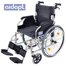 Aidapt Deluxe Lightweight Folding Self Propelled Aluminium Luxury Wheelchair