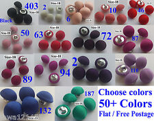 5 SILK SATIN CHARMEUSE FABRIC COVERED BUTTONS BRIDAL BUTTON HANDMADE Size18/11mm