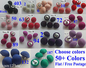 20 SILK SATIN CHARMEUSE FABRIC COVERED BUTTONS BRIDAL BUTON HANDMADE Size18/11mm