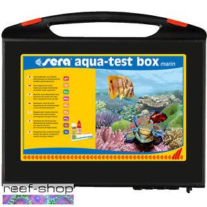 Sera Marine Aqua Test Box Saltwater Aquarium Multi Test Kit Ca Kh Fe Cu Po4 No3
