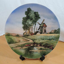 "Antique Villeroy & Boch Windmill Countryside Scene 12"" Display Plate"