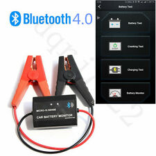 12V Bluetooth 4.0 Car Battery Monitor Phone Display with Clamps for Android IOS