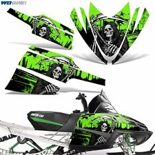 Decal Graphic Kit Arctic Cat M Series AC Crossfire Sled Snowmobile Wrap REAP GRN