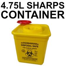 4.75 Litre Sharps Container Needle Syringe Disposal Hypodermic Model RE4LS