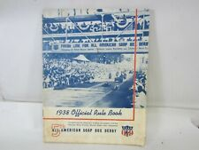 1938 Official Rule Book 5th American Soap Box Derby