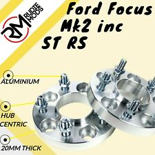 Ford Focus Mk2 inc ST RS 5x108 20mm Hubcentric wheel spacers 1 pair UK MADE