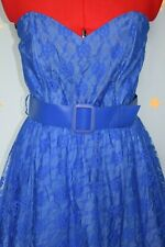 80s does 50s Yessica blue lace prom dress  and jacket