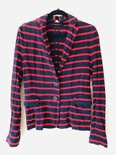 J Crew Navy Blue Red Nautical Jersey Blazer Jacket Size XS C2