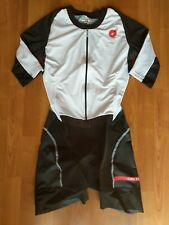 Castelli Cycling Womens All Out Speed Suit White/Black Large Nwot (Retail $269)