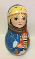 Very Big Russian Matryoshka Roly Poly Doll Hand Painted #1