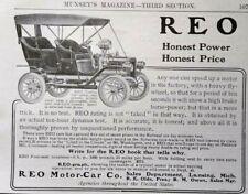 1906 REO Touring Car Antique Automobile Art Lansing MI Vintage Print Ad