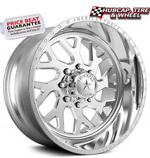 """American Force Lucky SS8 Polished 24""""x14 Truck Wheels Rims 8 Lug (Set of 4)"""