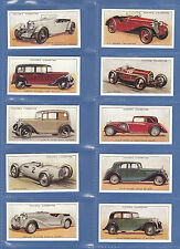 CARS  -  SET  OF  50  PLAYER'S  ' MOTOR  CARS  A  SERIES ' CARDS  REPRINTS