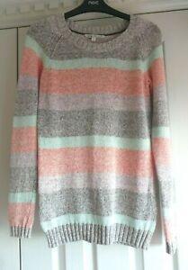 Fat Face Pastel Cotton Blend Long Sleeve Jumper Size 8 / 10 Superb