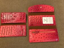 Hope & Stetson Wallet Checkbook Holder Tri-Fold Retired Hot Pink (CT)