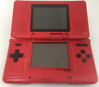 Nintendo DS Original NTR-001 Console with Charger - Lava Red - Tested Works