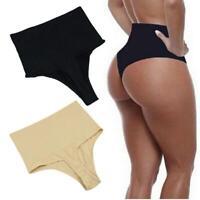 Women Elastic Slim High Waist T-string Knickers Lingerie Briefs B98B 08