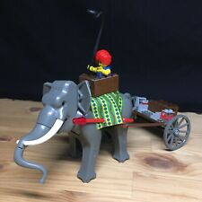 Lego 7414 Orient Expedition Dark Grey Gray Elephant with figure and trailer