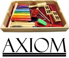 Axiom Childrens Jumbo Percussion Set - 10 Kids Percussion Instruments in Box