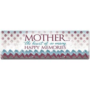 Mother Heart of  Memories Ceramic Plaque Relationship Bar Tabletop Sign