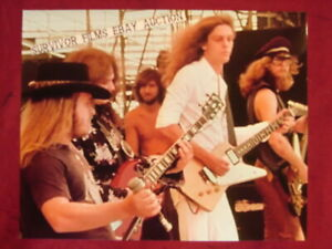 LYNYRD SKYNYRD LIVE ON STAGE w/ ME IN THE MIDDLE * 8 X 10 inch