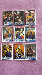 WEST COAST EAGLES SUNDAY TIMES  2005 SET OF 9 CARDS SIGNED
