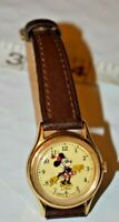 Vintage Walt Disney Company Lorus Minnie Mouse Watch New Battery Leather Band