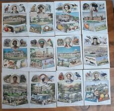 More details for wills cigarette card the british empire full set 12 postcard size