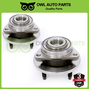 2x Front Wheel Bearing & Hub 2003-2010 Chevy Cobalt Saturn Ion G5 4-Lug NO ABS