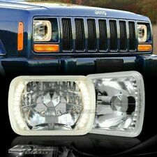 "7""x6"" H6014 H6052 H6054 Yellow 20-LED Chrome Housing Headlights Lamps TOYOTA"