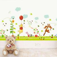 Winnie The Pooh Wall Stickers Home Decor Kids Boys Girls Room Nursery Sticker