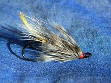 Hairwing fly for Atlantic salmon fly fishing - Silver rats #4 double hook