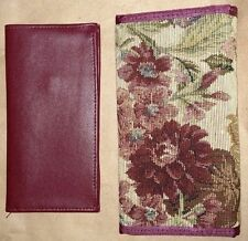 Ladies wallet and check register Flowered design
