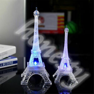 3D Eiffel Tower LED Color Changing Night Light Home Bedroom Party Lamp Decor