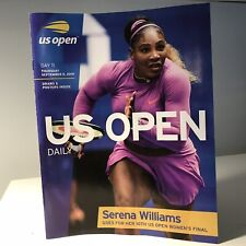 2019 US OPEN TENNIS Day 11 Serena Draw Sheet And Poster