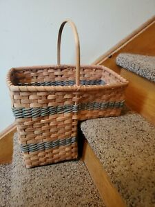 VINTAGE Country Rustic Wicker Stair Step Basket