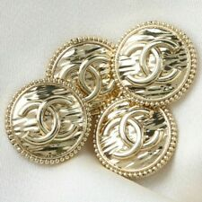 New listing Chanel Buttons 4pc � Cc Gold 20 mm Vintage Style Unstamped 4 Buttons Auth!