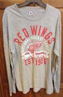 Detroit Red Wings NHL Retro Vintage 1926 Long Sleeve Shirt Men's L NWT New $54