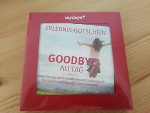 """mydays Gutschein """"Goodbye Alltag"""""""