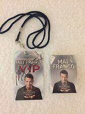 MAT FRANCO - PLAYING CARD ( AUTOGRAPH ) & VIP ( AUTOGRAPH ) BADGE