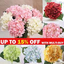 11 Heads Artificial Floral Flowers Bouquet Fake Hydrangea Bloom Wedding Decor UK