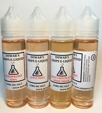 E-Flavours (4X60ml) Pick Your Own Juice. 0-12mg 45mg Salt (Canada)