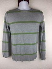 H&M LOGG Men Small S Grey Striped Crew Neck Sweater Casual L3