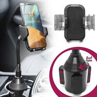 Mobilefox Universal Auto Handy Halterung PKW Getränke Schwanenhals KFZ Halter