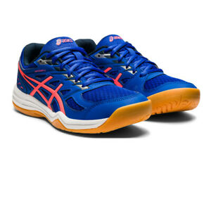 Asics Womens Upcourt 4 Indoor Court Shoes Blue Sports Squash Netball Handball