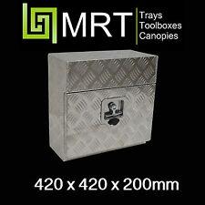 ALUMINIUM SQUARE UNDER BODY TOOLBOX 420*420*200MM TOOL BOX UNDER TRAY MRT1C