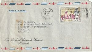 1965 Bermuda cover sent from Hamilton to Kingsway,Altrincham,Cheshire UK